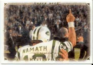 2008 Masterpieces Joe Namath